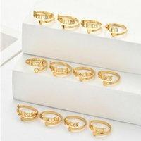 Coração ajustável anéis de aço inoxidável 12 constelações anel de carta para mulher abrindo o casamento do zodíaco dedo jóias presente de aniversário