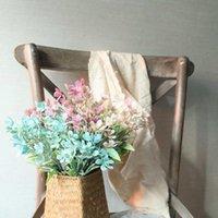 Fleurs décoratives Couronnes Pâques artificielles Faux Roses Flanelle Flanelle Bouquet de mariée Bouquet de mariée Décor à la maison pour la décoration Indoor Rish