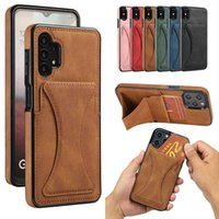 Phone Protective Case For Samsung Galaxy A12 A32 A42 A52 A72 A51 A71 5G A21S A30 Card Slot Magnetic Stand Back Cover Leather