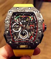 Смотреть дизайнерские часы MCLAREN F1 .RM 50-03 Модель движения моделей Часы. Материал изготовлен из карбонового волокна NTPT. МУЛЬНЫЙ Функциональный