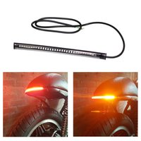 LED Stop Signal Light Motorcycle Dynamic water light Waterproof Tape LED Light strip Car turn Lamp Universal accessories