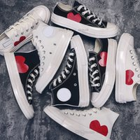 2021 CDG PLAY x Converse 1970s Big Eyes Shoes Jointly Name  Canvas Skateboard Sports Sneaker Men Women Classic Fashion Casual  gray blue Training Sneakers