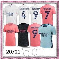 Erkekler + Çocuklar 2020 2021 Gerçek Madrid Futbol Formaları 20 21 Tehlike Ramos Benzema Rodrygo Camiseta Futbol Gömlek Kiti Maillot Maglia Tops