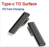 65W USB Type C PD adapters Fast Charging Plug Converter for Microsoft Surface Pro 3 4 5 6 Go USB-C Female Adapter chargers Book 1 2