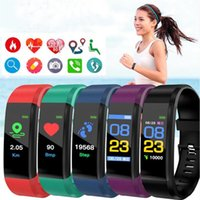 ID115 115 Plus Bracelet SMART Fitness Tracker Watch Contour Smart Bracelet Smart Bracelet Écran Coloré