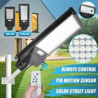 Solarlampen AugienB 100W / 200W LED Straßenlaterne Wandlampe Powered Remote Radar Bewegungssteuerung Outdoor Garden Yard Beleuchtung