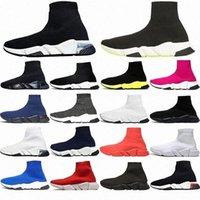 2021 Tasarımcı Çorap Spor Hızı 1.0 Eğitmenler Dantel-Up Rahat Ayakkabılar Eğitmen Lüks Kadın Erkek Koşucular Sneakers Moda Çorap Çizmeler Platformu Streç Örgü Sneaker Ayakkabı