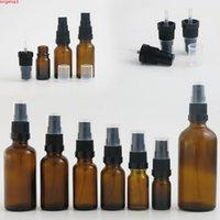 100ml 50ml 30ml 1oz 20ml 15ml 10ml 5ml bottiglia di olio essenziale in vetro ambra con spruzzatore di nebbia Profumo bottiglie di profumo 10pcshigh QUALITÀ