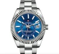 Человек-часы для мужских автоматических часов календарь 42 мм набор номеров из нержавеющей стали GMT светящийся бизнес водонепроницаемый 50 метеров сапфировый стеклянный наручные часы