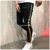 Skinny Mens Jeans Black Cool Men Jeans Stretch Slim Fit Denim Biker Jeans Hip Hop Men Streetwear Q