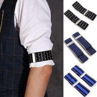 Belts Elasticated Unisex Armbands Sleeve Garter Adjustable Gift Shirt Holders Cufflinks Business Wedding Groom Accessories