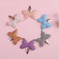 Europa Sweet Baby Girls Sequins Butterfly Capelli clip per bambini Farfalle Barrette Accessorio per bambini