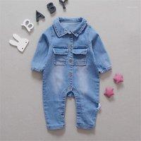 Bebé mameluco suave mezclilla moda arco iris arco iris y jirafa estilos ropa infantil mono recién nacido bebés niño niñas traje vaquero jeans1