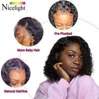 No Water Wave Edge Frontal Prune Remy Pre Picked Curly Weather Pruning Human Hair Wet and Wavy Short Bob Prunes