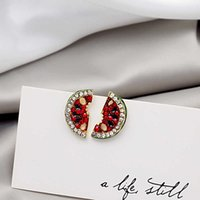 925 silver needle and South Korea new full refined Earrings simulation flash diamond simple earring network red trend