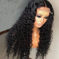 Curly 13*4 Lace Front Human Wig For Black Women Girls Virgin Brazilian Malaysian Preplucked Baby Hair bleached knots