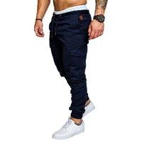 2021 Nouveau mâle mince décoration de couleur solide pantalon décontracté hommes HIP HOP HOP HAREM JOGGERS Pantalons multi-poches Santé 54L5 Kryd