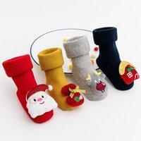 Çorap lawadka kış erkek bebek kız kayma karikatür şişman yılbaşı yılı doğan giyim aksesuarları