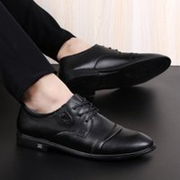 2020 chaussures pour hommes en cuir véritable de haute qualité chaussures d'affaires formels de haute qualité occasionnel Oxford robe Hommes appartements mode b1ay #