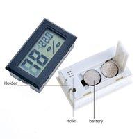 Noir / Blanc Mini Digital LCD Environnement Thermomètre Hygromètre Humidité Température Compteur dans la chambre Réfrigérateur Icebox Sans navire