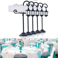 Party Dekoration 5 PC Streetlight Form Hochzeitsempfang Platz Kartenhalter Number Name Tisch Menü Bild PO Clip Ständer Wi