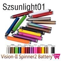 Visão Spinner 2 II Bateria 1650mah Ego C Torção Variável VV VV 3.3-4.8V Bateria de cigarro eletrônico para o ego encadeadores Atomizers