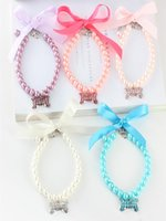 Dog Apparel 5pcs Pack Pearl Necklace For And Cat Pet Collar