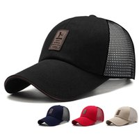 Hat Mens and Womens Outdoor Sports Peaked Cap Korean-Style Net Sun Hat Breathable Canvas Sandwich Baseball Cap