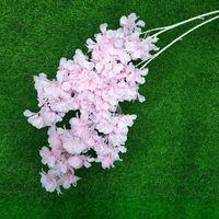 새로운 시뮬레이션 매화 벚꽃 인공 실크 꽃 사쿠라 나뭇 가지 홈 테이블 거실 결혼식 장식 EWA3622