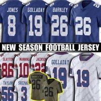 "Saquon Barkley Lawrence Taylor Daniel Jones Fußball Jersey Michael Strahan Kenny Golladay Sterling Shepard Jerseys Kadarius Toney New York ""Giants"" Jersey"