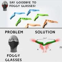 Puente de las narices de silicona Pájaros de la nariz Puentes de la nariz Diseño flexible Anti FOG Protection Accesorio de la tira prevenir Eyeglasses Anti-Hoquing Clip HWA8742