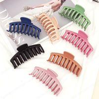 Новая мода сладкая и универсальная простая большая 11 см клипы матовый цветной ванна Catch женщин девушка для волос Accessori