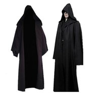 New Darth Vader Terry Jedi Black Robe Knight Hoodie Cloak Halloween Cosplay Costume Cape For Adult