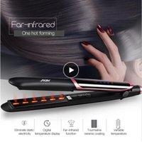 Professioneller Haarglätter-Lockenleiter-flaches Eisen-negatives Ionen-Infrarot-Geradekräusel-Well-LED-Anzeige
