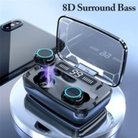 M11 Headset Bluetooth Earphone Earplugs V5.0 TWS Touch Control Stereo Sport Wireless Noise-Reduction Earbuds with Power Bank