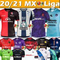 리가 MX 축구 유니폼 톨 루카 아틀라스 Pachuca Juárez Mazatlan Puebla San Luis Jerseys Men Camisetas Chándal De Fútbol 20 21 축구 셔츠