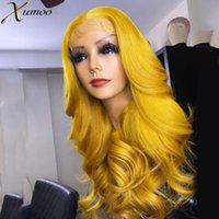 Lace Wigs XUMOO Cosplay Wig Sexy Yellow Front Cuticle Aligned Loose Wave Remy Virgin Brazilian Human Hair For Black Women
