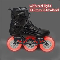 Inline & Roller Skates 3 Wheel LED Flash Shoes With 3X110mm White Blue Green Red Pink Light Color Shine Skate Street Patines 110mm