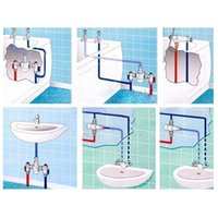 Kitchen Faucets 1pcs Brass G1 2 Male 3 Way Thermostatic Mixing Temperature Control Water Shower I3l0