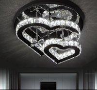 Современный блеск Кристаллический Диммируемый светодиодный потолочный светильник Chrome Mirror Steel спальня светодиодная потолочная лампа живущая комната потолочный светильник