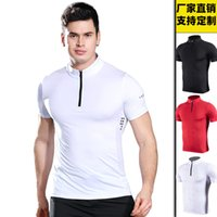 2021 New Luxury Fashion Designer Workout Clothes Mens Quick-Drying Short-Sleeved Sports T-shirt Quick-Drying Violently Sweat Running Polo Sh