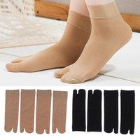 Women's Tabi Socks Non Slip Breathable Toe Socks For Flat Sandals Japanese Kimono Flip Flop Sandal Split Toe Tabi Ninja