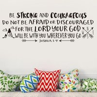 Wallpapers Be Strong And Courageous Nursery Wall Decal Quote Religious Sticker For Kids Rooms Joshua 1:9 Bible Scripture 57x35.4