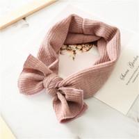 Hair Accessories 1 PC Winter Warm Ear Warmer Headwrap Xmas Girls' Crochet Headband Knitted Bow Hairband Band
