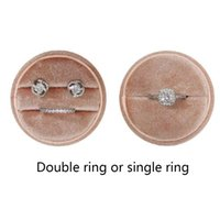 Jewelry Pouches, Bags K3KF Wedding Engagement Birthday Anniversary Ring Box Round Velvet Earrings Gift