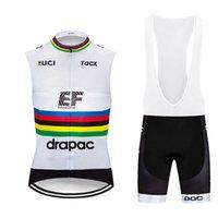 Educação EF Educação Primeira Equipe Summer Ciclismo Sem Mangas Mangas Vest Big bib Sets Sets Resipel Bicicleta Roupas MTB Bicicleta Sportswear E61854