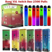 Bang Switch Duo 2 In 1 Disposable Vape Pen Device 2500 Puffs E Cigarette Adjustable Vaporizer 1100mAh Battery With 7.0ml Pod And 8 Colors Electronic Cigarettes