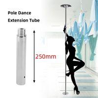 Extensions de danse de pôle de décapage professionnel de 125 / 250mm de longueur réglable en chrome danse en acier inoxydable