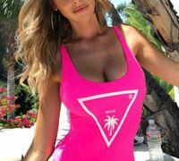 2021 Mais novo Sexy Bikini de One-Peça para Mulheres Swimsuit com Letras Verão Moda Swimwear Senhora Bathless Ternos Banhos 5 estilos S-XL Opcional