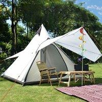 320x260x200cm tiendas de campaña al aire libre para camping Yurt Camping Tienda Impermeable Familia Estilo Pirámide Tipi Tiendas